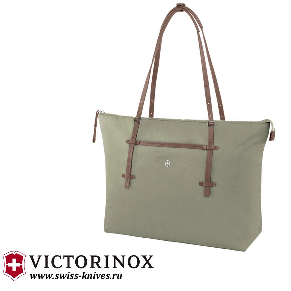e188ae1dbc23 Женская сумка с отделением для ноутбука VICTORINOX Victoria Charisma  зеленая 15,6''(
