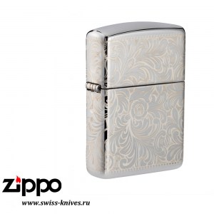 Зажигалка широкая Zippo Armor LE 2019 Venetian 45th Anniversary High Polish Chrome 49053