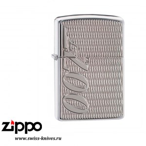 Зажигалка широкая Zippo Classic Armor James Bond 007 High Polish Chrome 29550