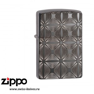 Зажигалка широкая Zippo Armor Decorative Pattern Design Black Ice 29665