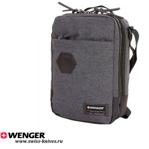 Сумка наплечная вертикальная WENGER Grey Heather, серая (6л) 2606424532